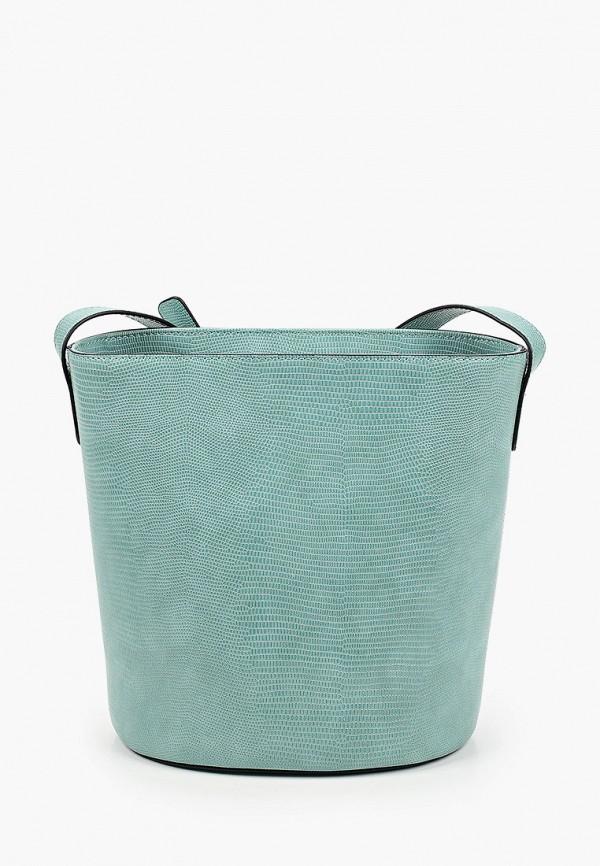 женская сумка через плечо emme marella, бирюзовая