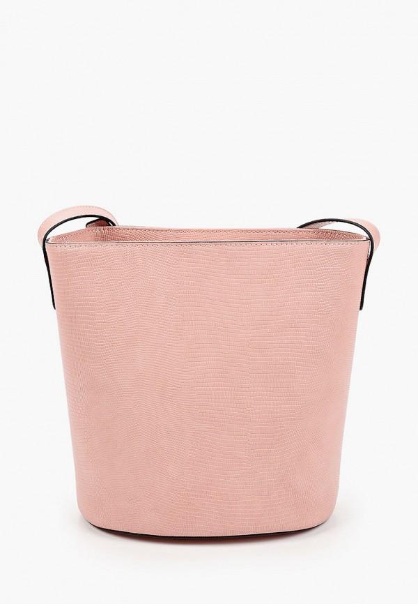 женская сумка через плечо emme marella, розовая
