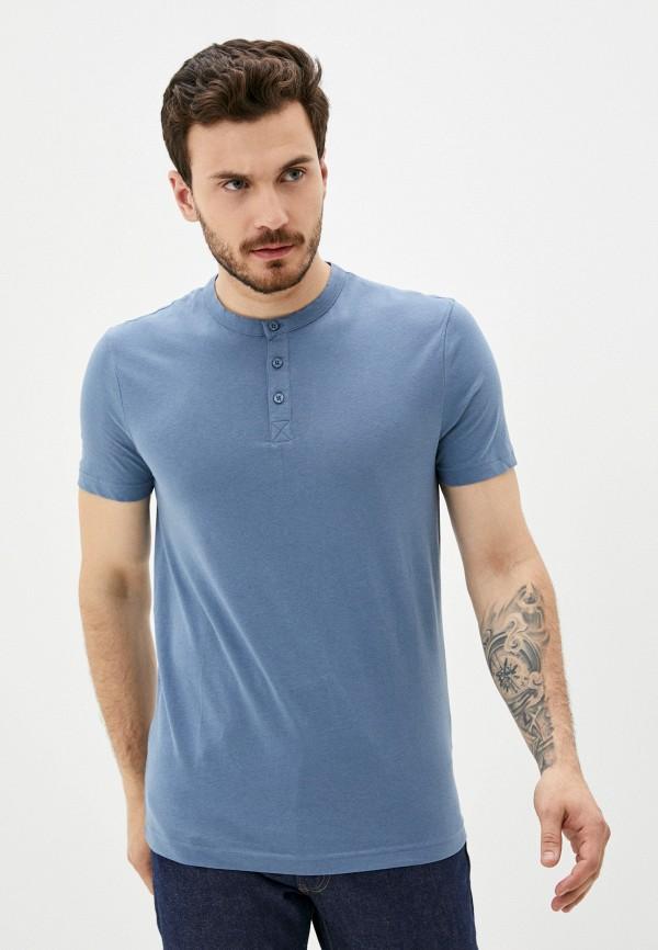 мужская футболка с коротким рукавом finn flare, голубая