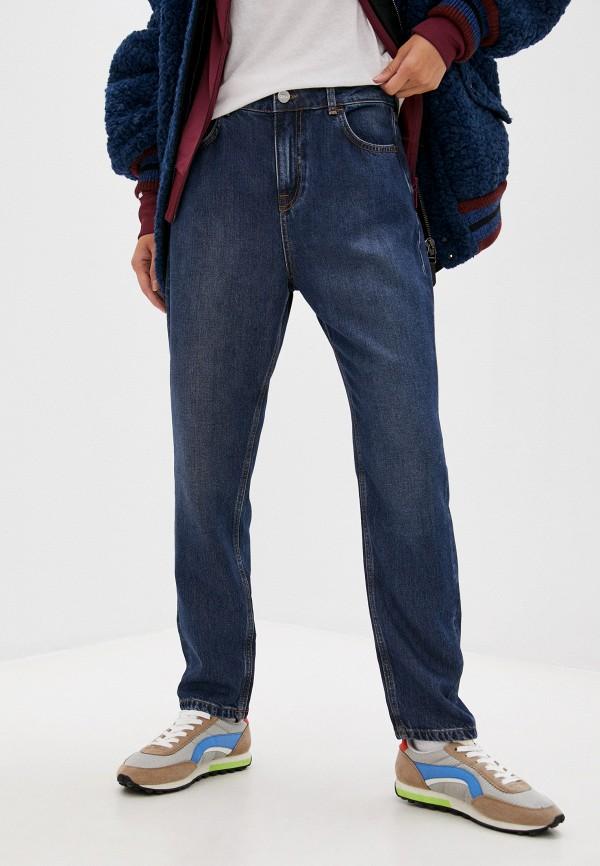 женские джинсы-мом ice play, синие