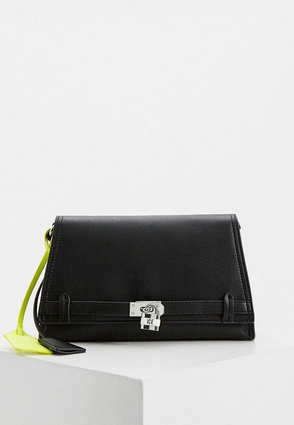 женская сумка через плечо ice play, черная