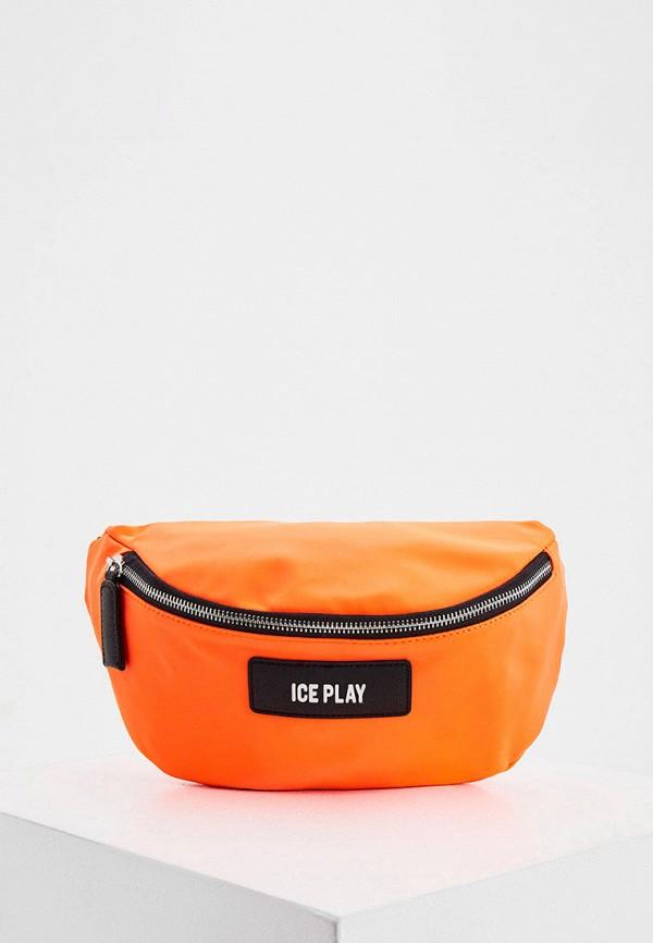 женская поясные сумка ice play, оранжевая
