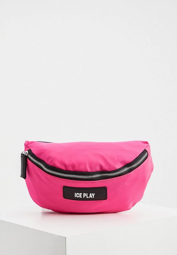 женская поясные сумка ice play, фиолетовая