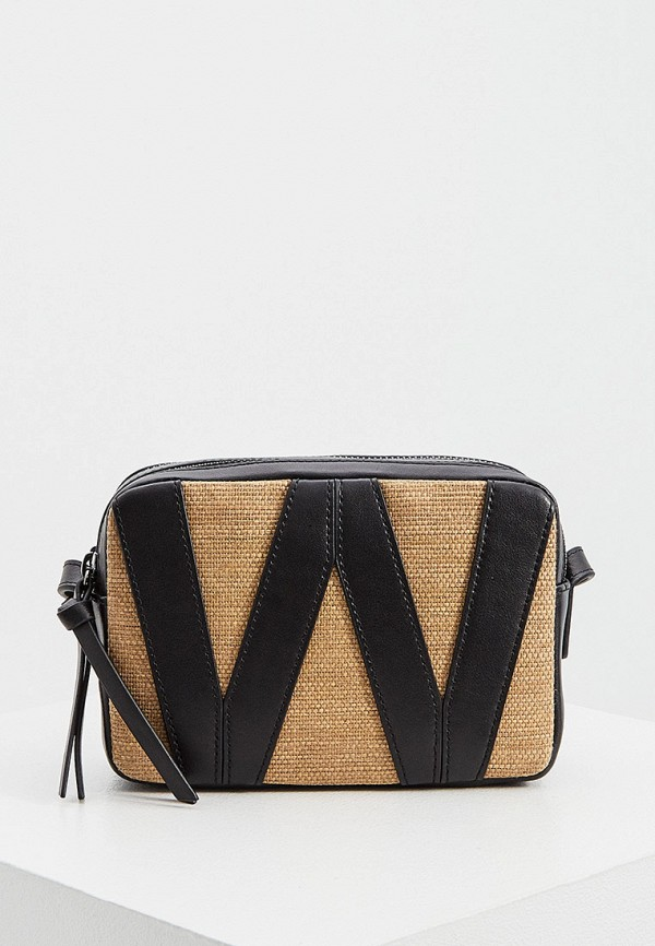 женская сумка через плечо weekend by max mara, черная