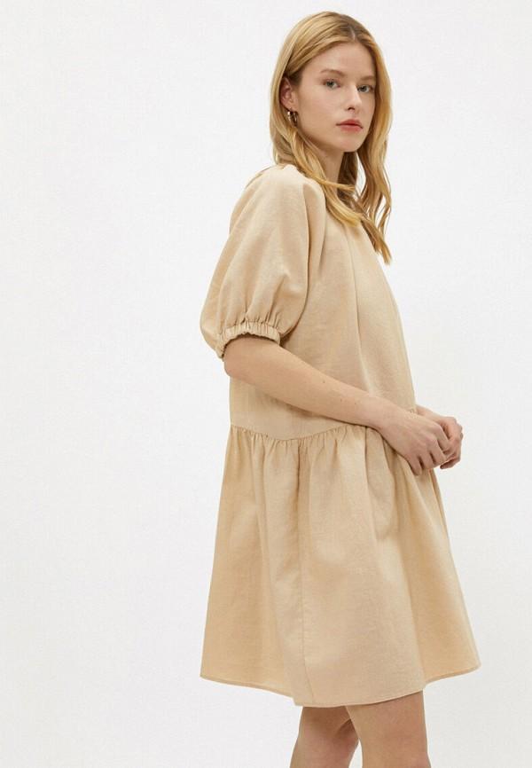 женское повседневные платье koton, бежевое