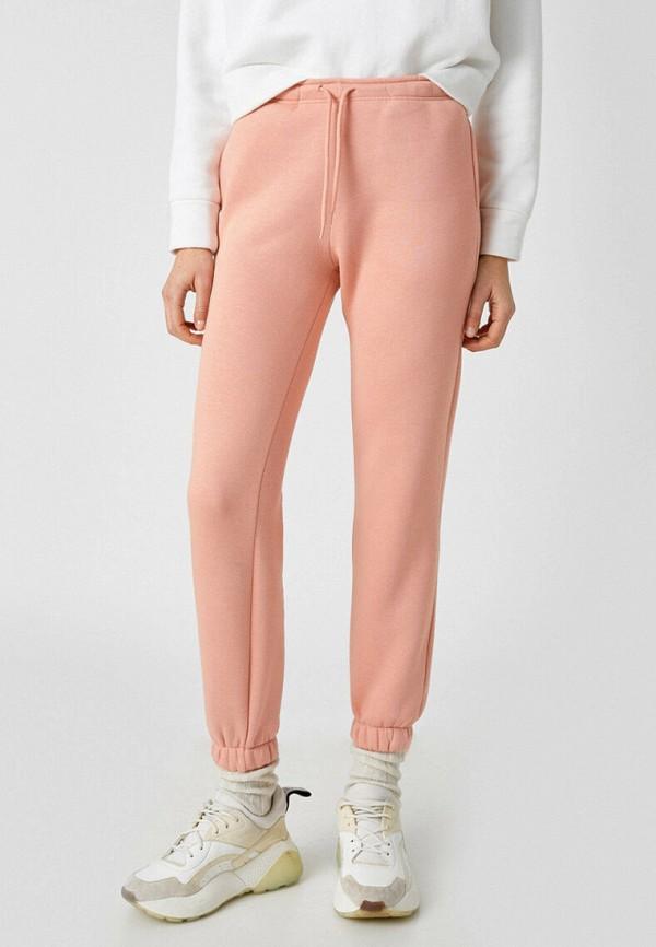 женские спортивные брюки koton, розовые