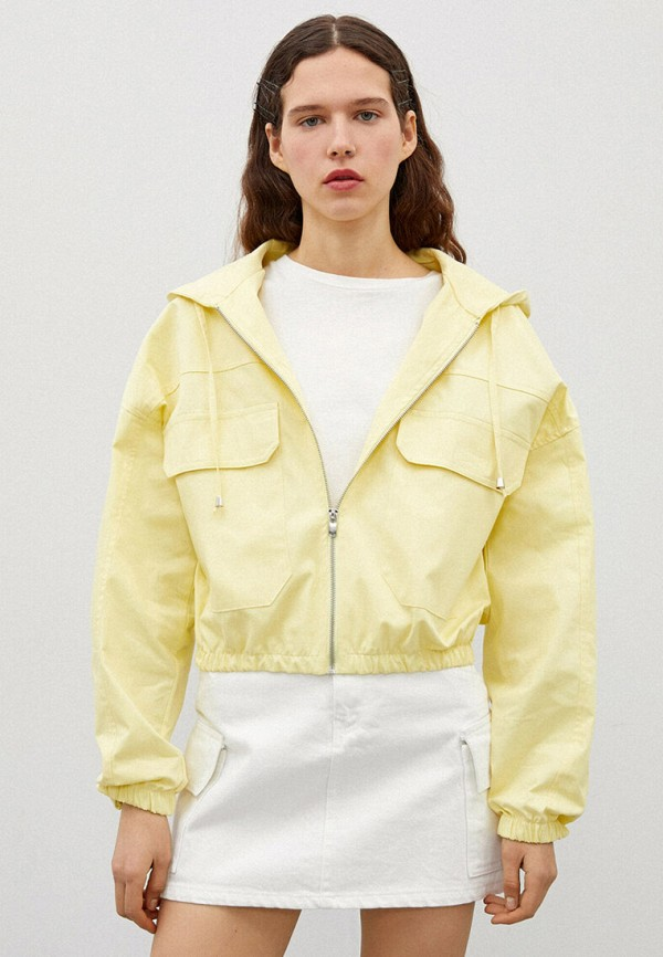 женская куртка koton, желтая