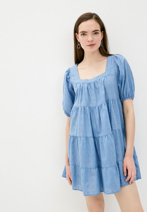женское повседневные платье koton, голубое
