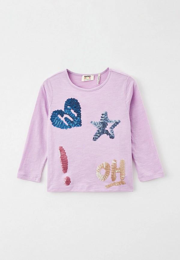 лонгслив koton для девочки, фиолетовый