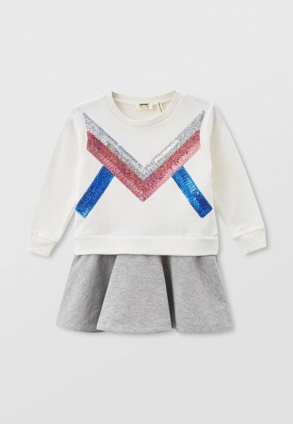 повседневные платье koton для девочки, белое
