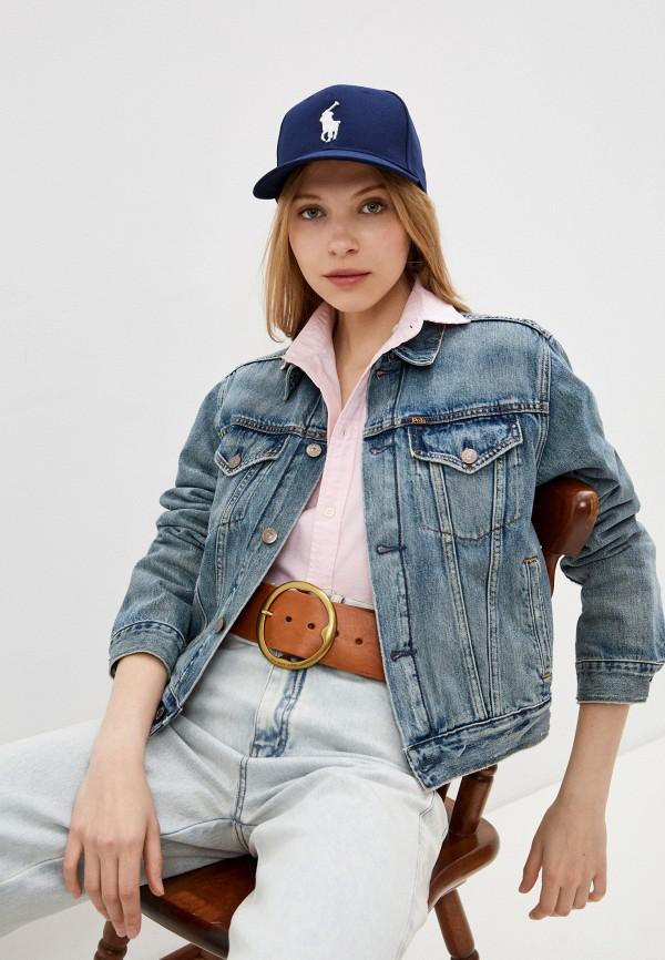 женская джинсовые куртка polo ralph lauren, голубая