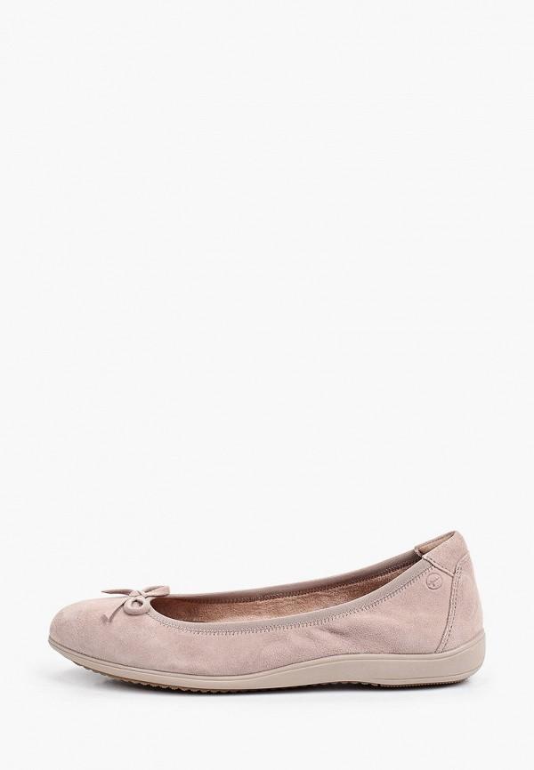 женские балетки tamaris, розовые