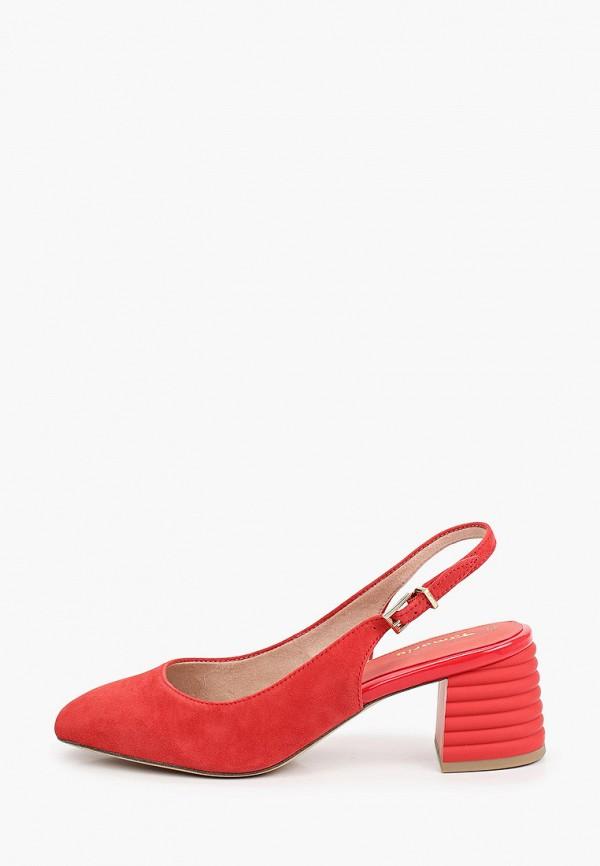женские туфли tamaris, красные