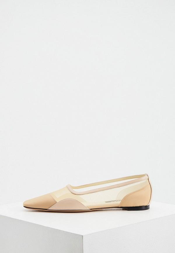 женские туфли с закрытым носом rochas, бежевые