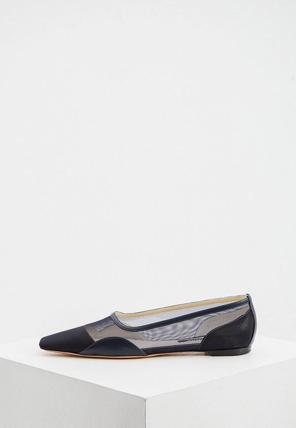 женские туфли с закрытым носом rochas, синие