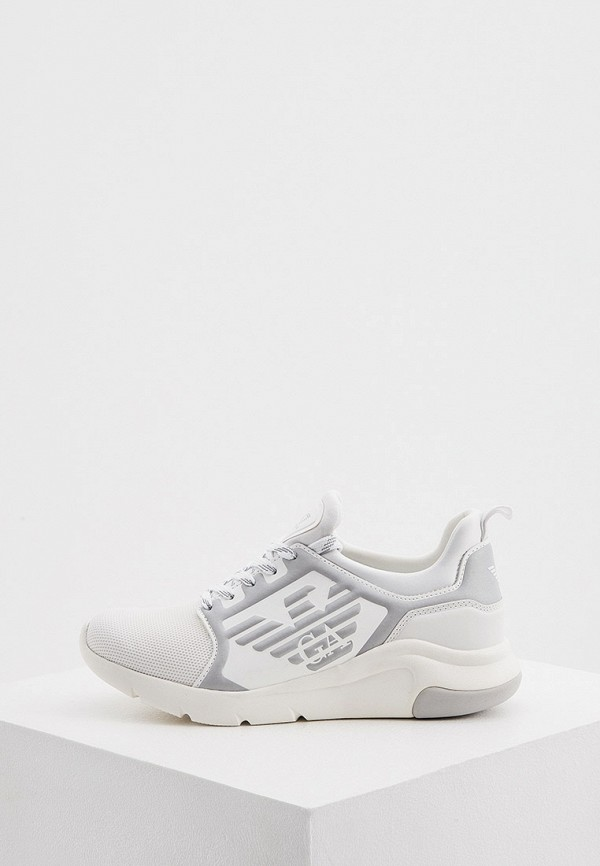 женские низкие кроссовки ea7, белые