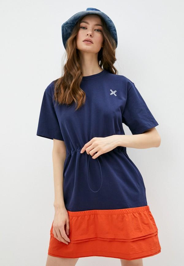 женское платье kenzo, синее