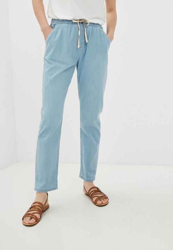женские брюки джоггеры roxy, голубые