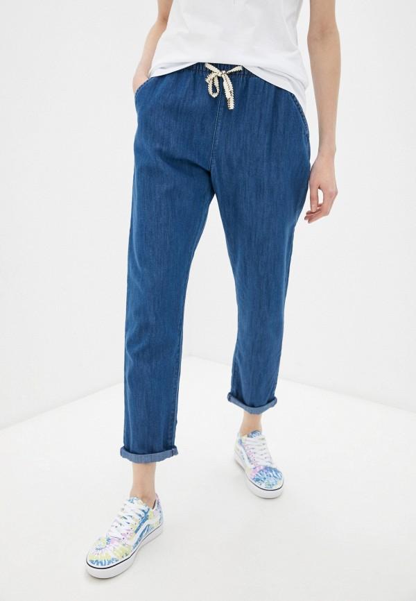 женские брюки джоггеры roxy, синие
