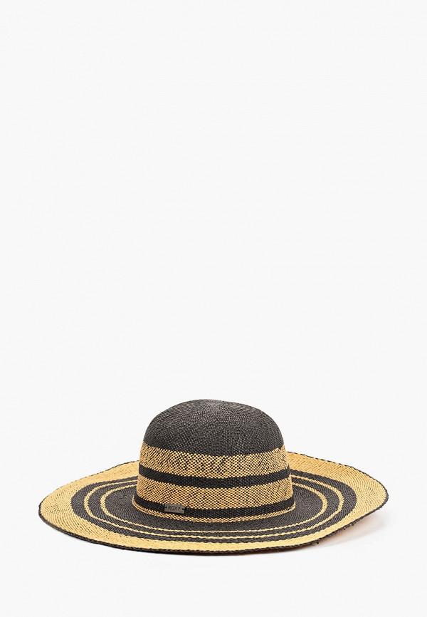 женская шляпа roxy, коричневая