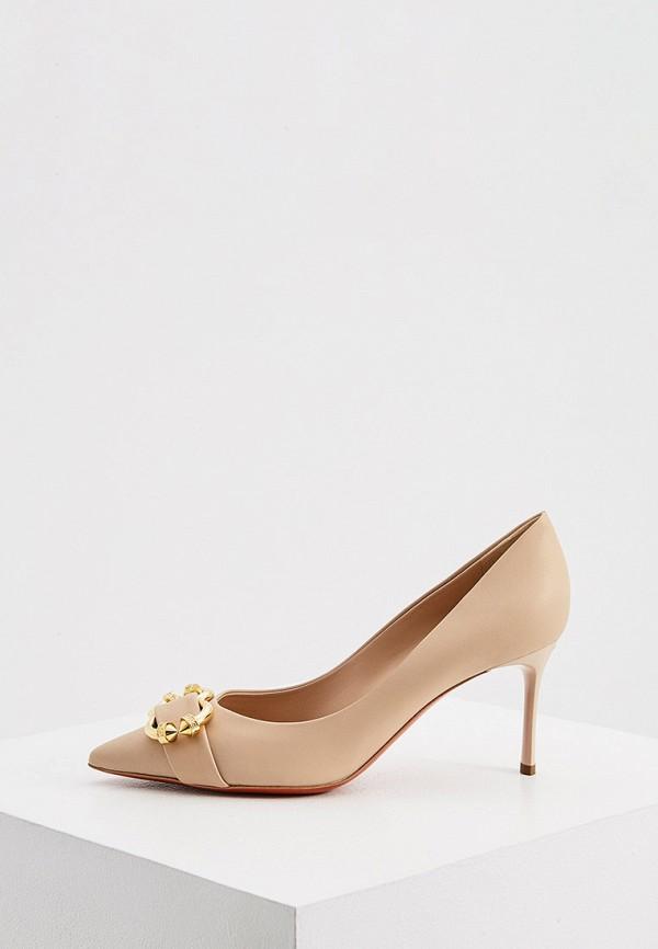 женские туфли-лодочки baldinini, бежевые
