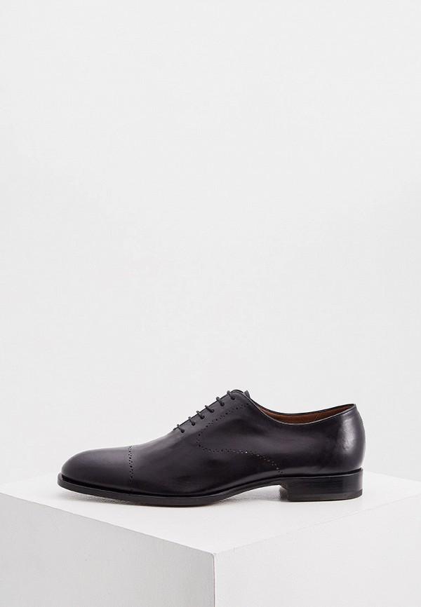 мужские туфли-оксфорды fratelli rossetti, черные