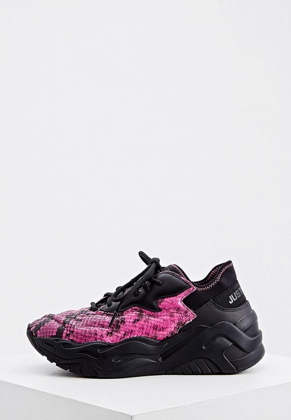 женские низкие кроссовки just cavalli, розовые