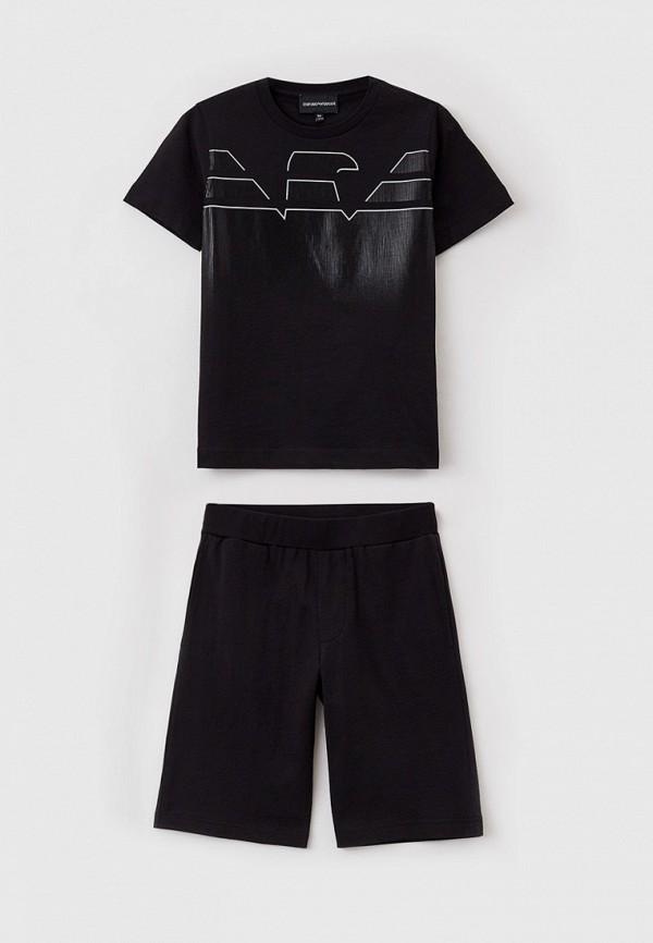 спортивный костюм emporio armani для мальчика, черный