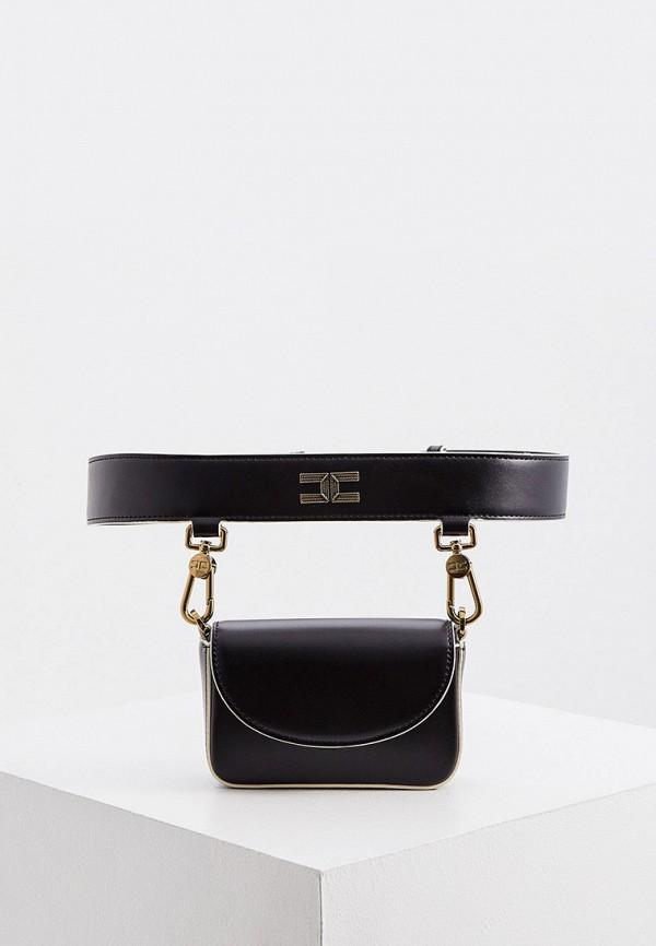 женская поясные сумка elisabetta franchi, черная