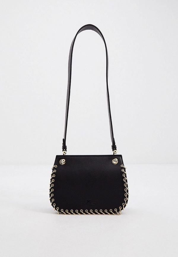 женская сумка через плечо elisabetta franchi, черная