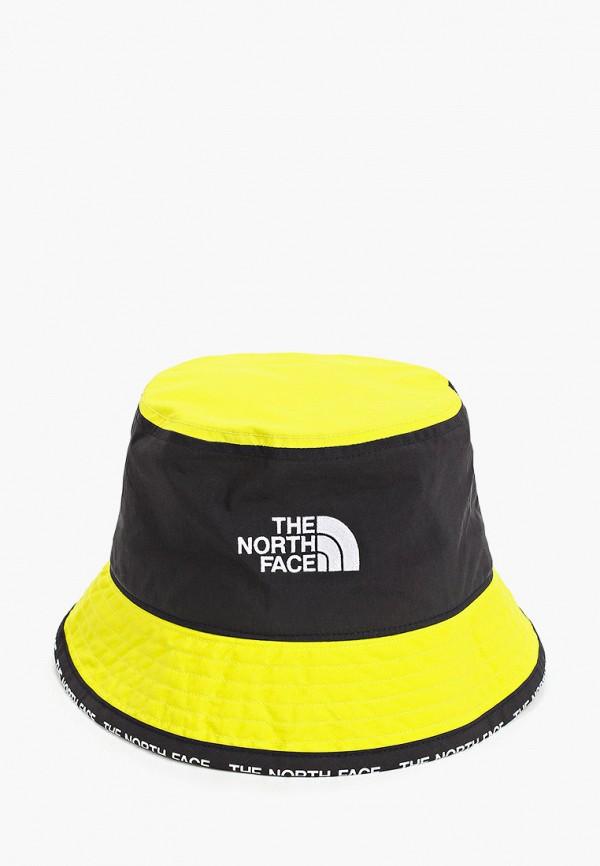 женская панама the north face, желтая