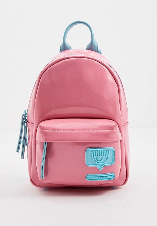 женский рюкзак chiara ferragni, розовый