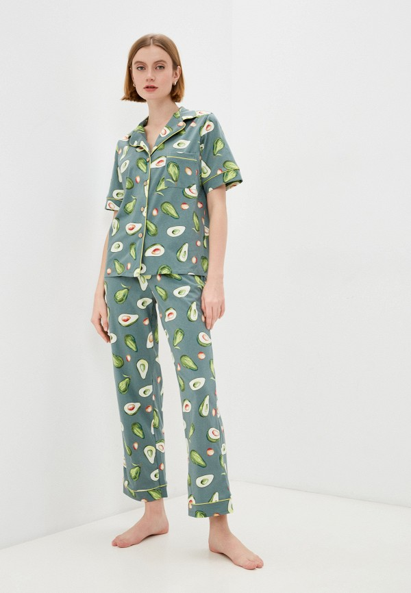 женская пижама rene santi, хаки