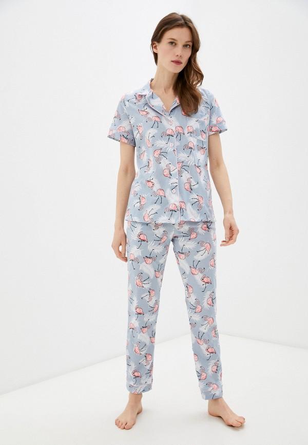 женская пижама rene santi, голубая