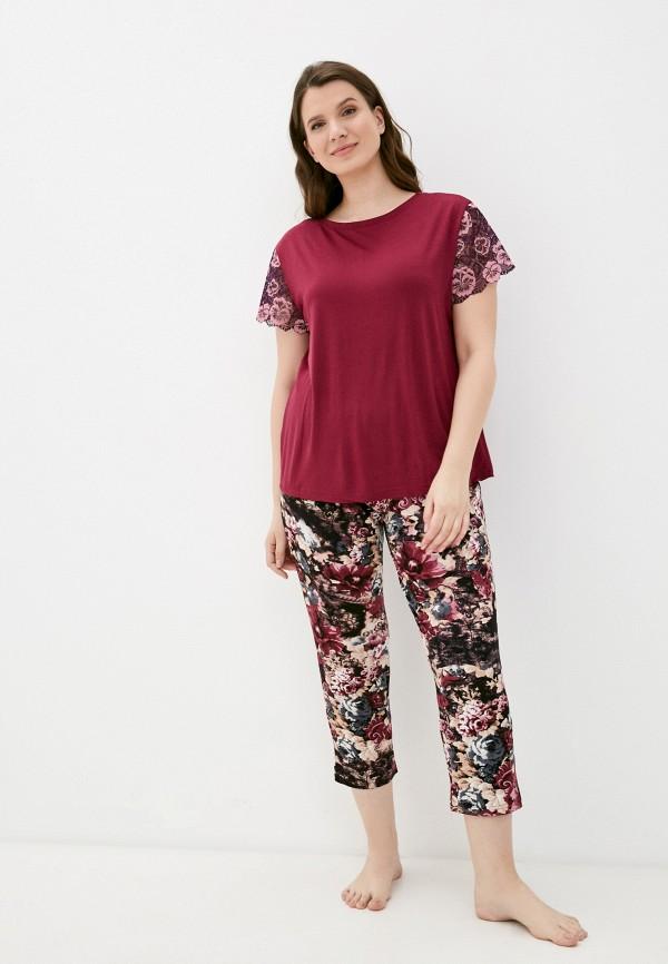 женская пижама rene santi, бордовая