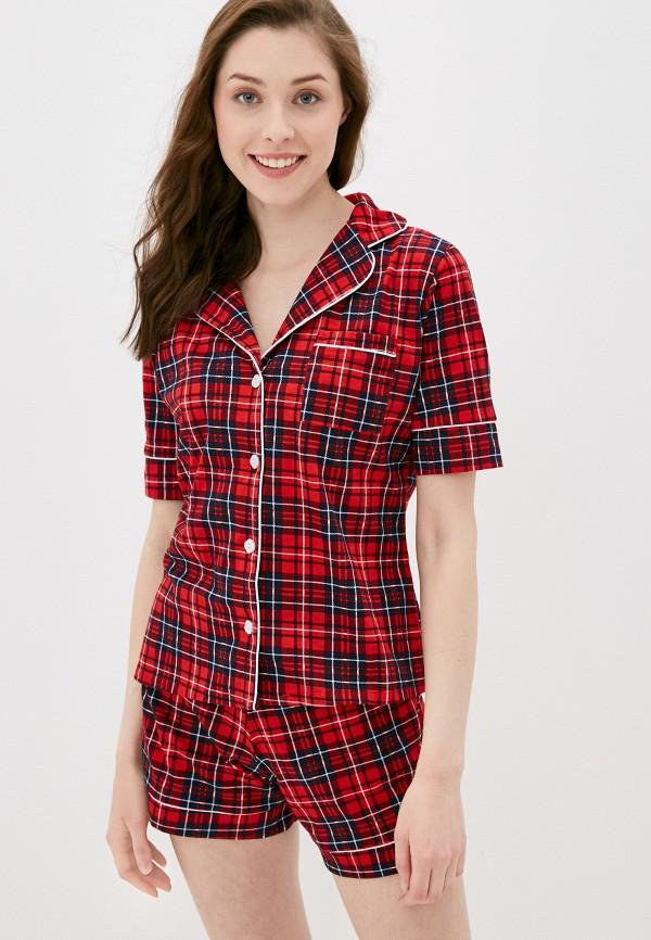 женская пижама rene santi, красная