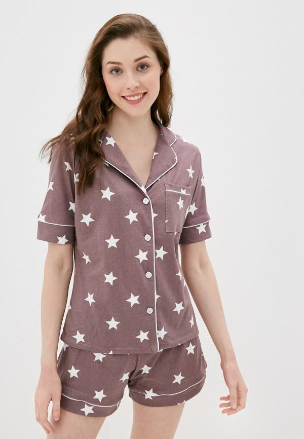 женская пижама rene santi, фиолетовая