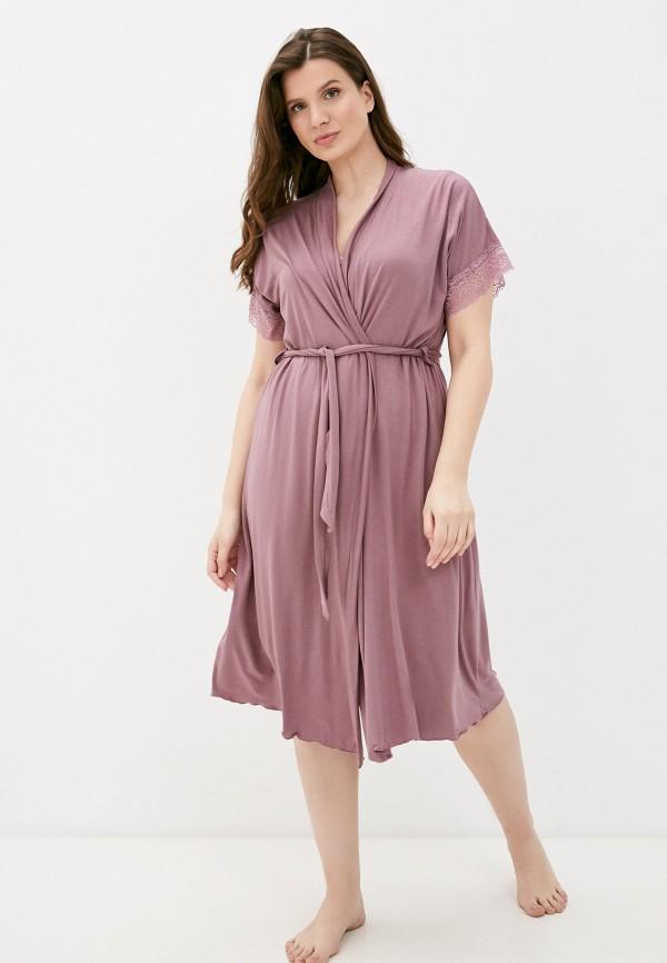 женский халат rene santi, фиолетовый