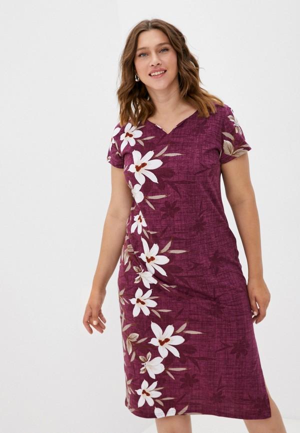 женское повседневные платье rene santi, бордовое