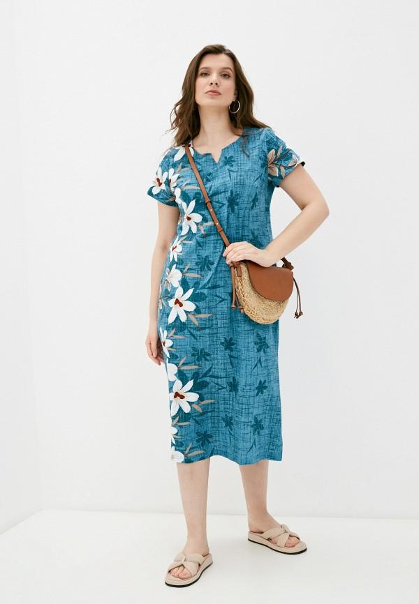 женское платье-футболки rene santi, голубое