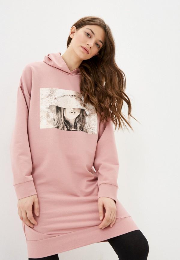 женские худи rene santi, розовые