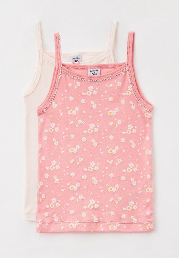 майка petit bateau для девочки, розовая