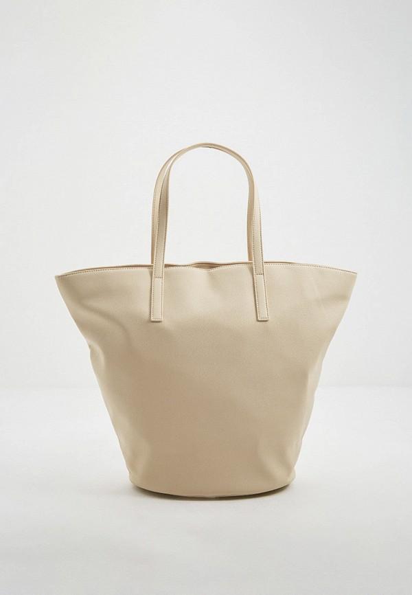 женская сумка-шоперы max&co, бежевая