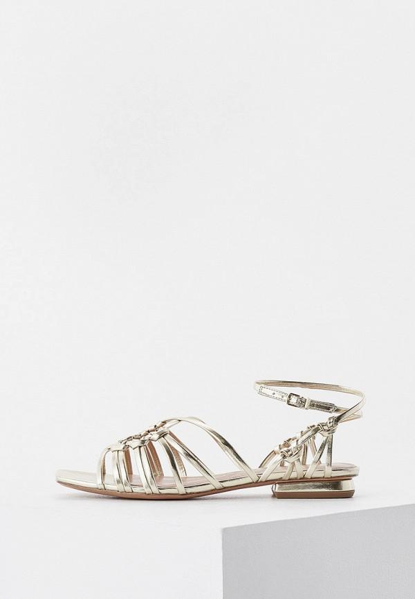 женские сандалии max&co, золотые