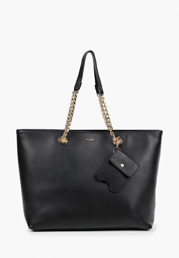 женский кошелёк с ручками aldo, черный
