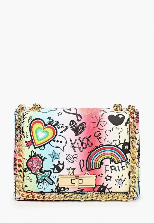 женская сумка через плечо aldo, разноцветная
