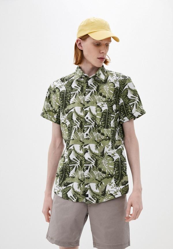 мужская рубашка с коротким рукавом strellson, хаки