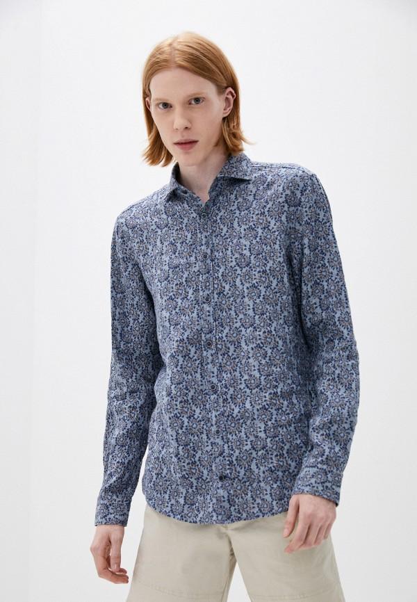 мужская рубашка с длинным рукавом joop!, синяя