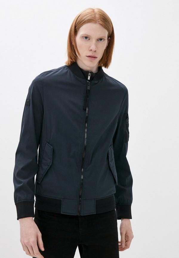мужская куртка бомбер strellson, синяя
