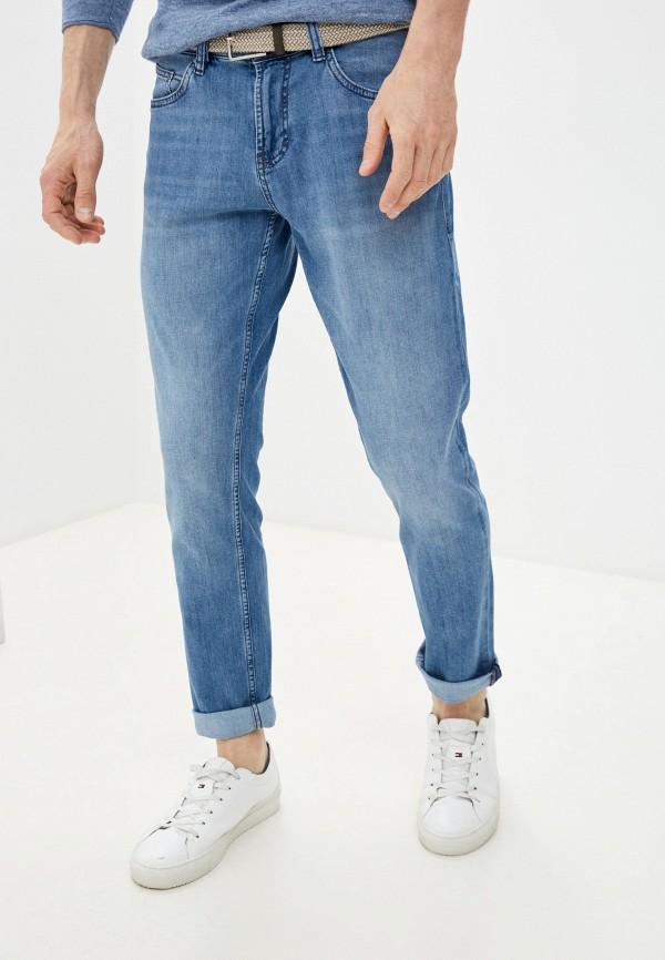 мужские зауженные джинсы strellson, голубые